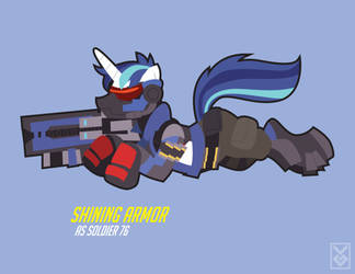 Shining Armor as Soldier 76