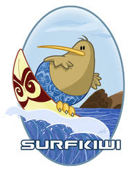 Surf kiwi by angry-teddy-bear