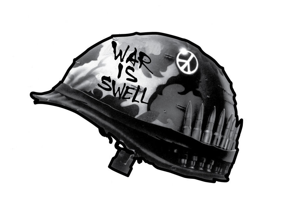 War is swell sticker by jawa tron