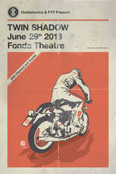 Twin Shadow Gig Poster