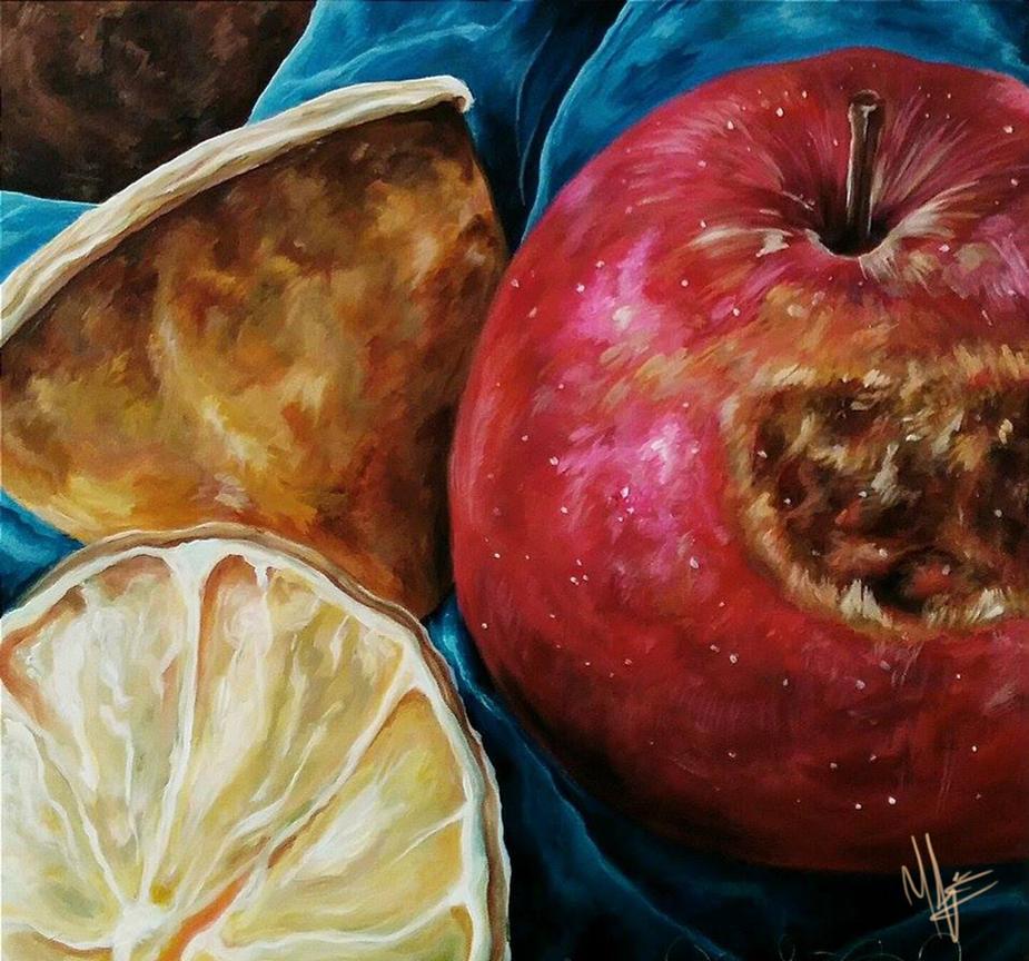Rotten Apple, Lemon Halves by JaidenIV