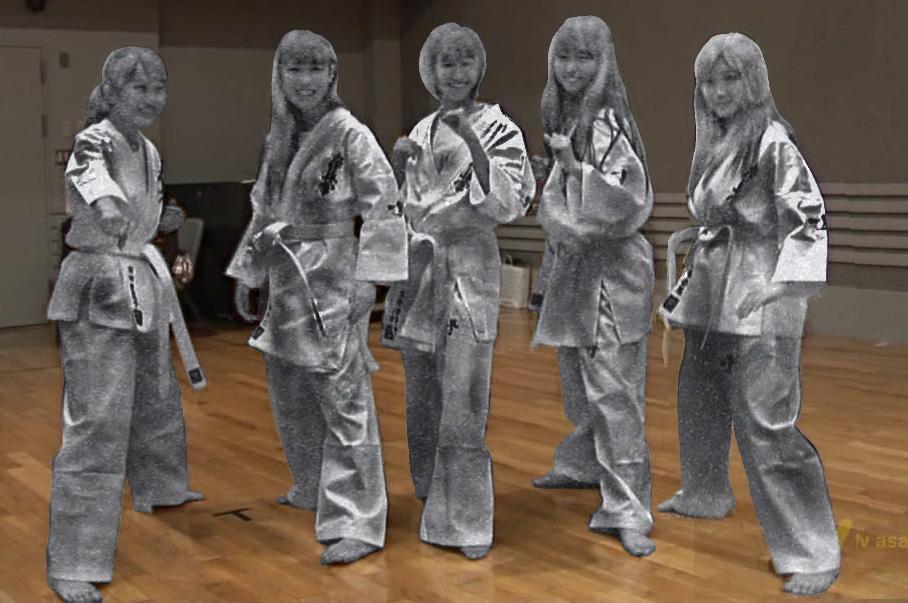 Momokuro karate stone stateu by buronzu