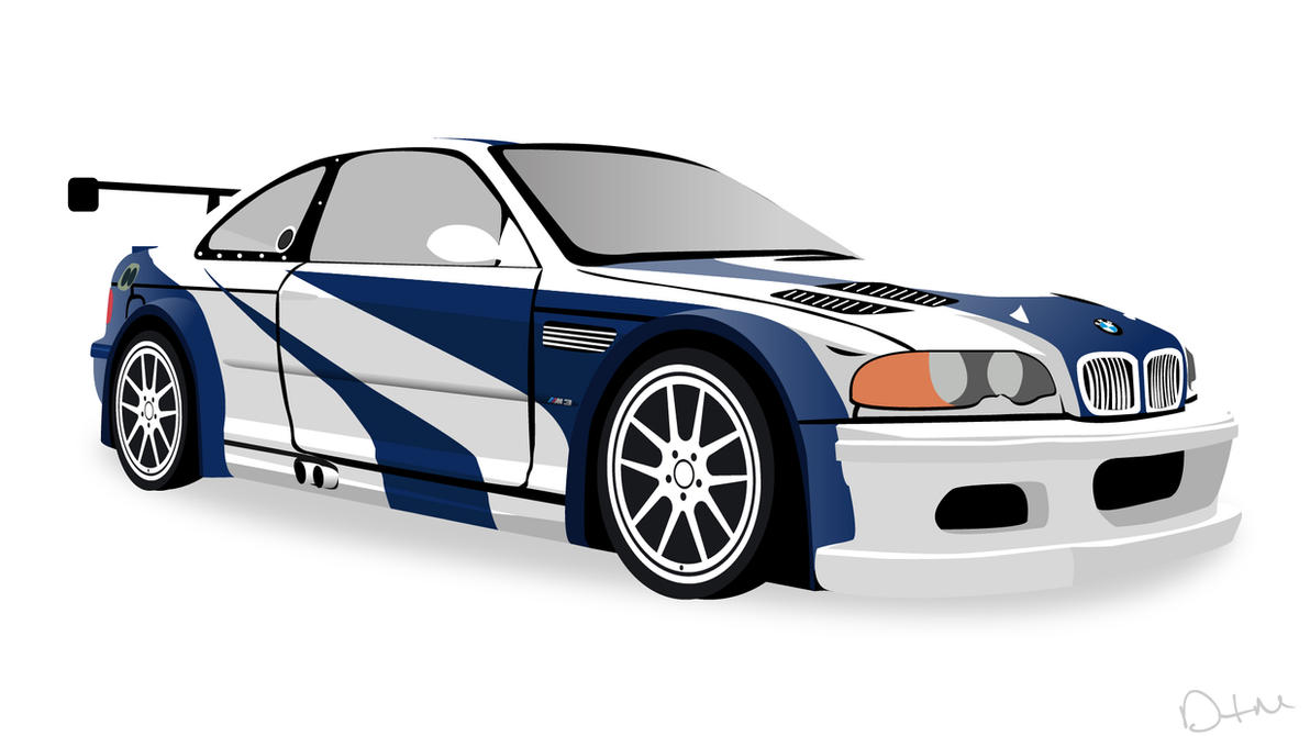 nfs most wanted 2005 bmw m3 gtr vector by dastrontm on deviantart