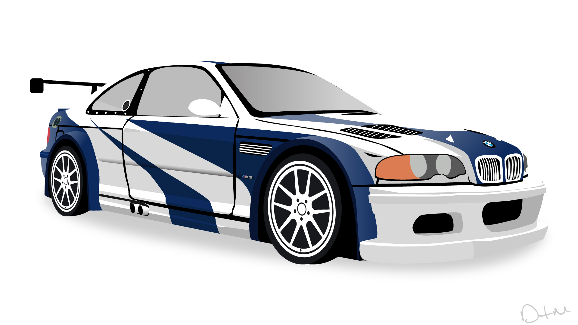 nfs most wanted 2005 bmw m3 gtr vector by dastrontm on. Black Bedroom Furniture Sets. Home Design Ideas
