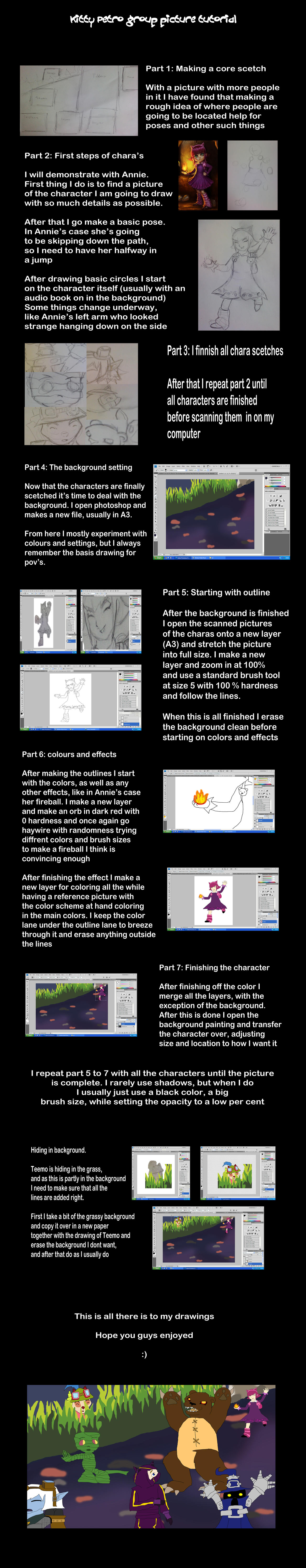 Drawing group picture tutorial
