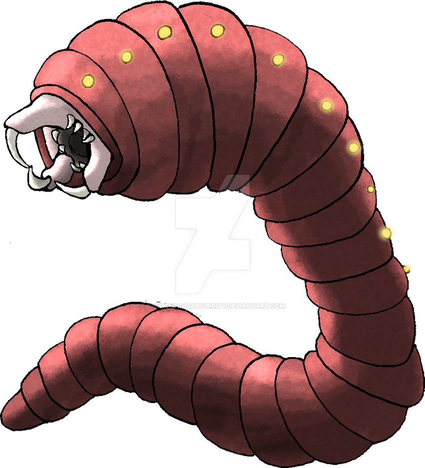 Allghoi (Mongolian Death Worm) by ThunderousAbsurdity