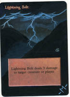 MTG alter - Lightning Bolt by mmmedo