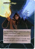 MTG altered card-Meddling Mage by mmmedo