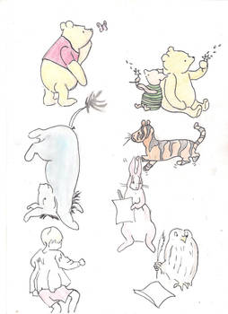 Original pooh coloured