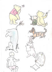 Original pooh coloured by oilslick89
