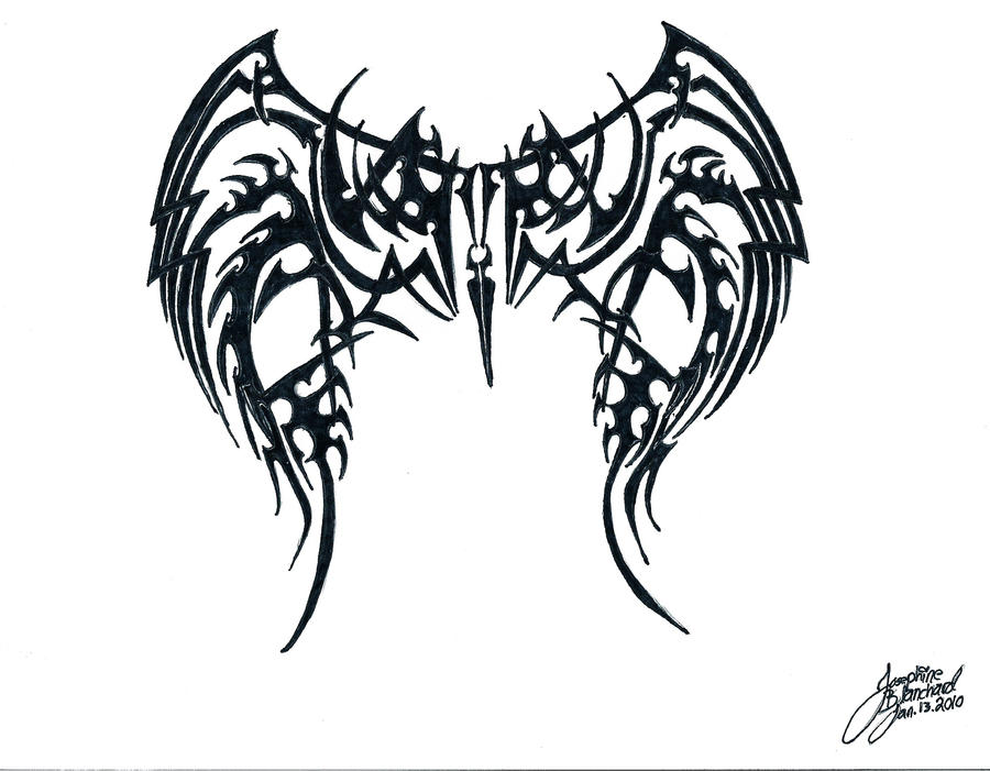 tribal wings by LostxInxStereo on DeviantArt