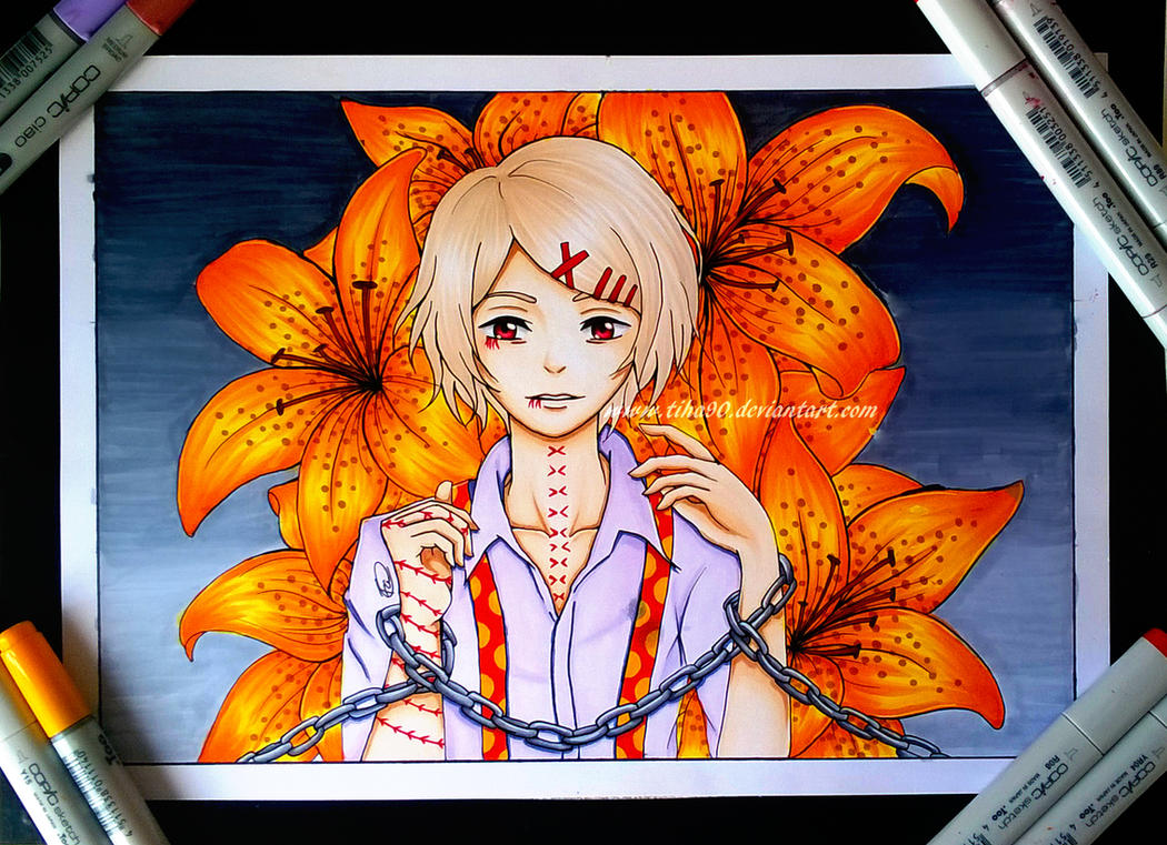 Copic Fanart: Juuzou Suzuya Tokyo Ghoul by Tiha90
