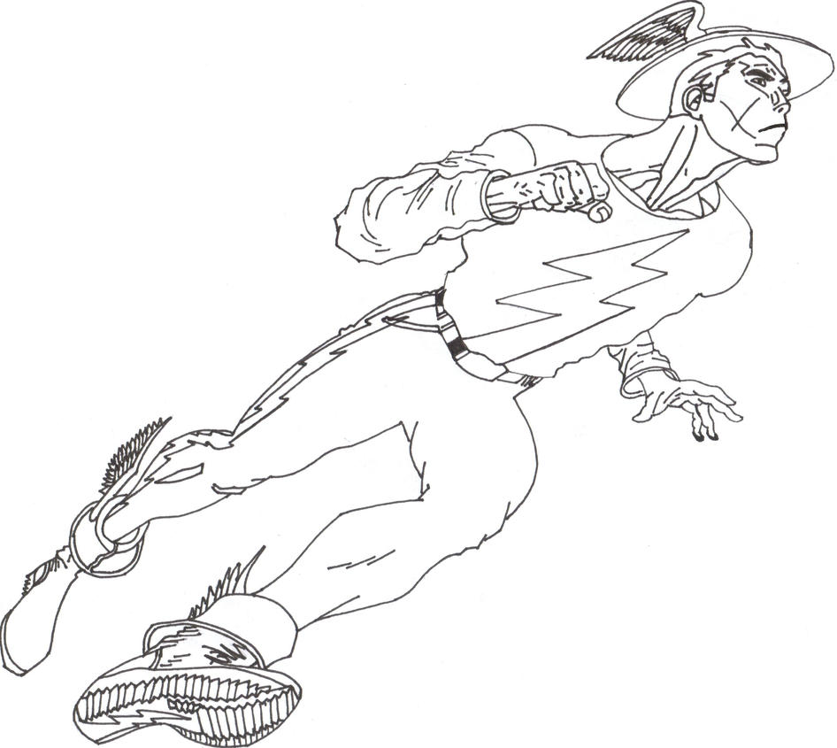 jay garrick flash coloring pages - photo#4