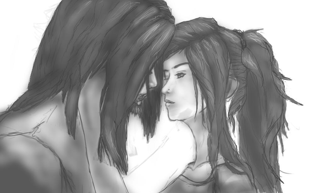 Kiss (WIP) by AlphaWubWolf