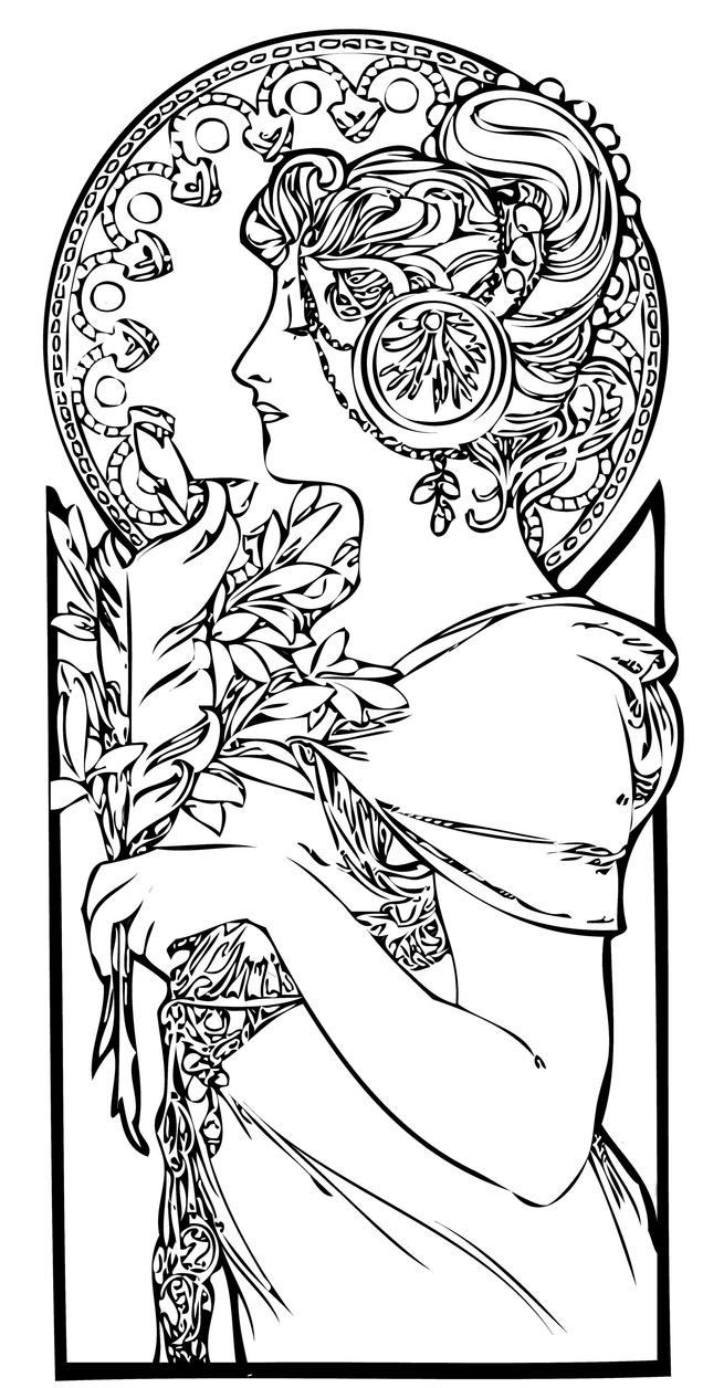 Coloring pages artist - Art Nouveau Coloring Book Pages Art Nouveau Coloring Pages Viewing Gallery