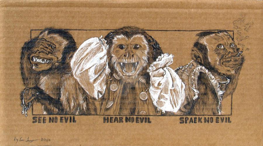 ec8cbfbd3 Three wise monkeys by BeastFromtheEast on DeviantArt