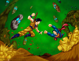 Superman Vs goku By mistermost by MrCapadochio