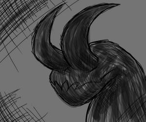 Drawtober ~ Horns by HauntedLantern