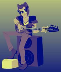 Ace playin' Bass by HauntedLantern