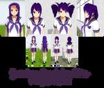 Yandere Simulator- Purple Plaid Skin