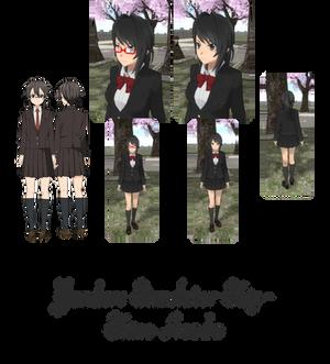 Yandere Simulator- Shino Asada Skin