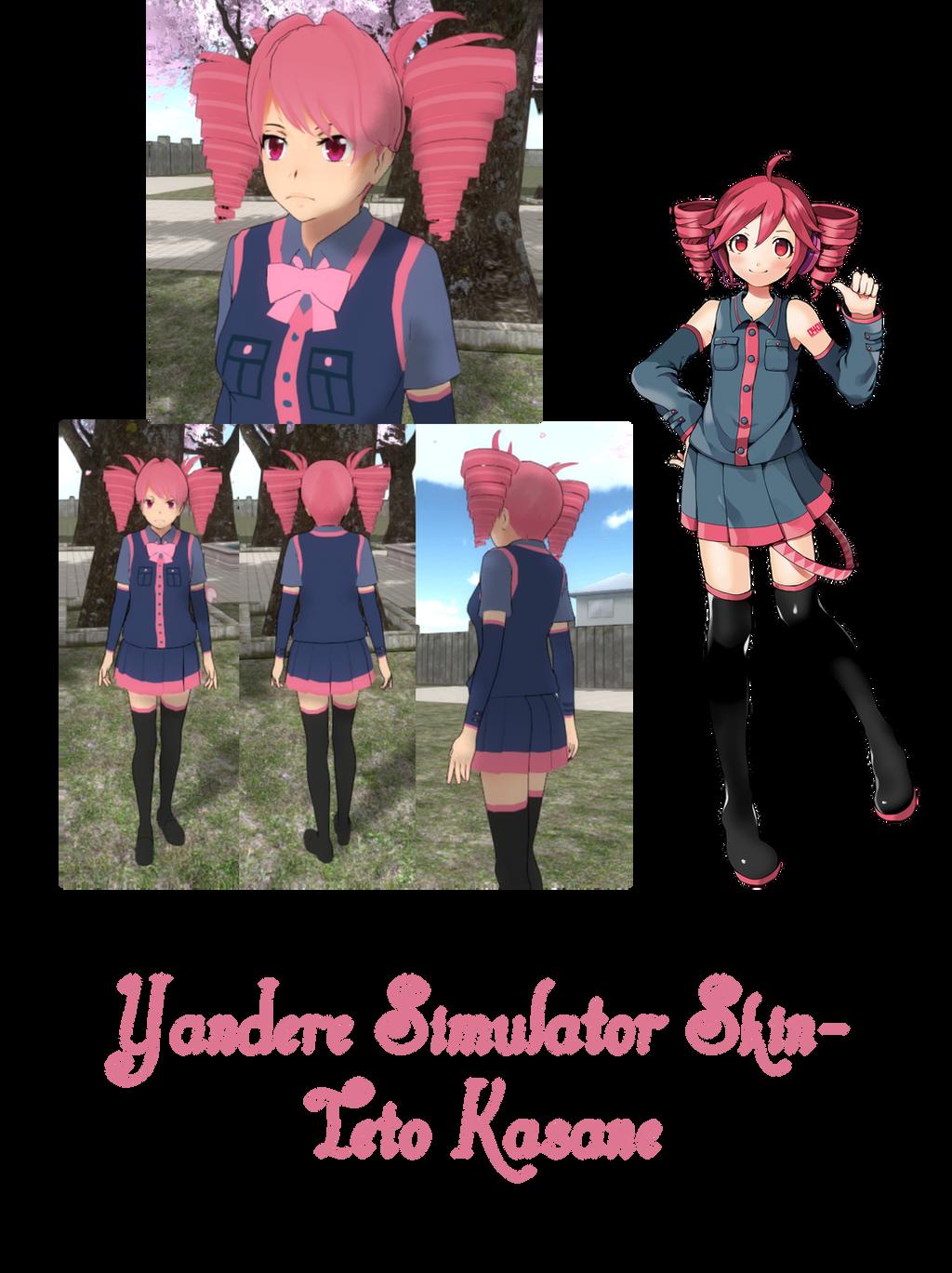 Descargar Skin De Hatsune Miku Para Yandere Simulator Alpha Beta Demo - Skins para minecraft de yandere