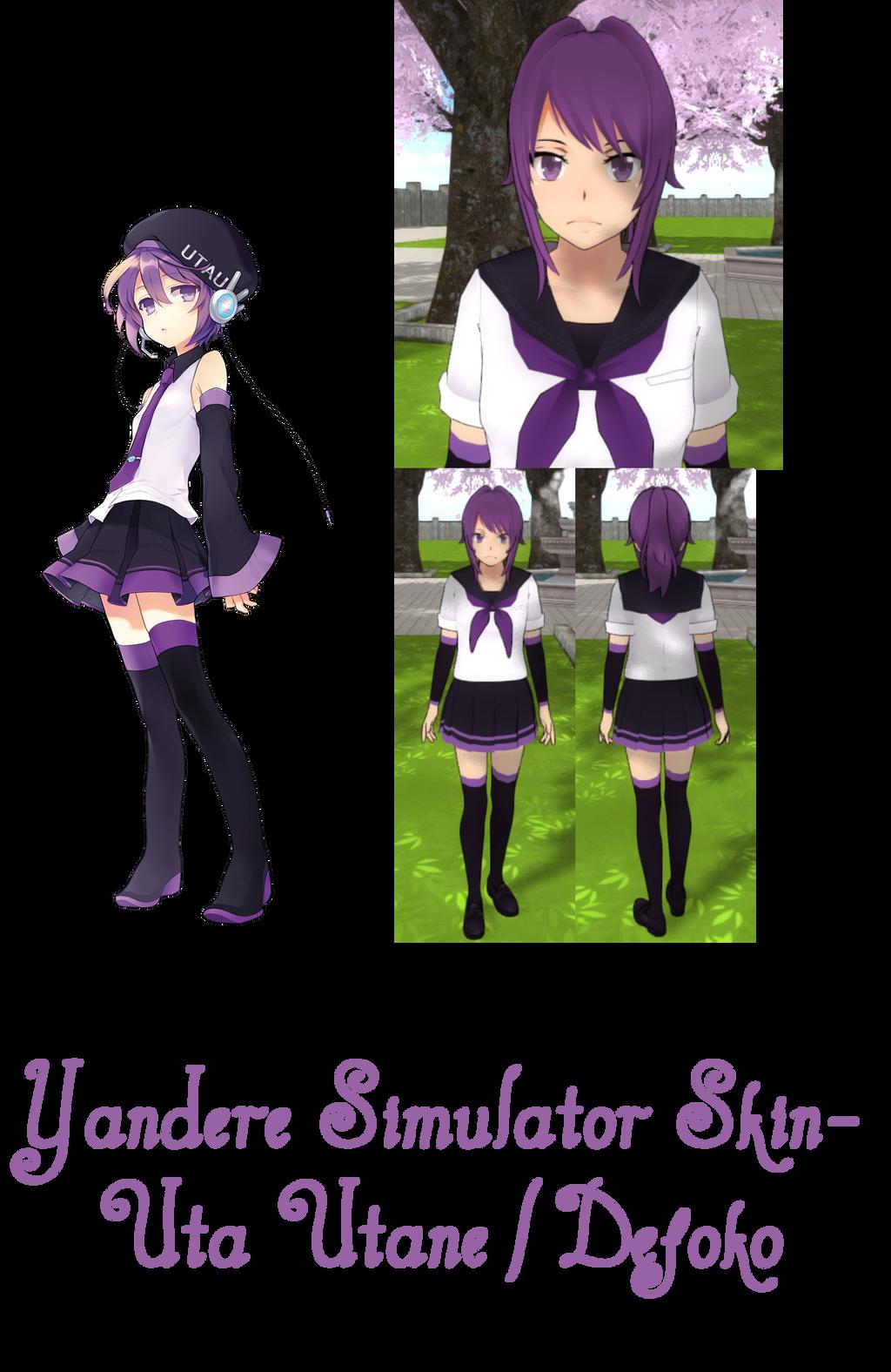 ImaginaryAlchemist Yandere Simulator Uta Utane Skin By