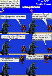 The GCC Sprite Comic 197 Goji73 vs. GigaBowser2000 by Godzilla90sTK