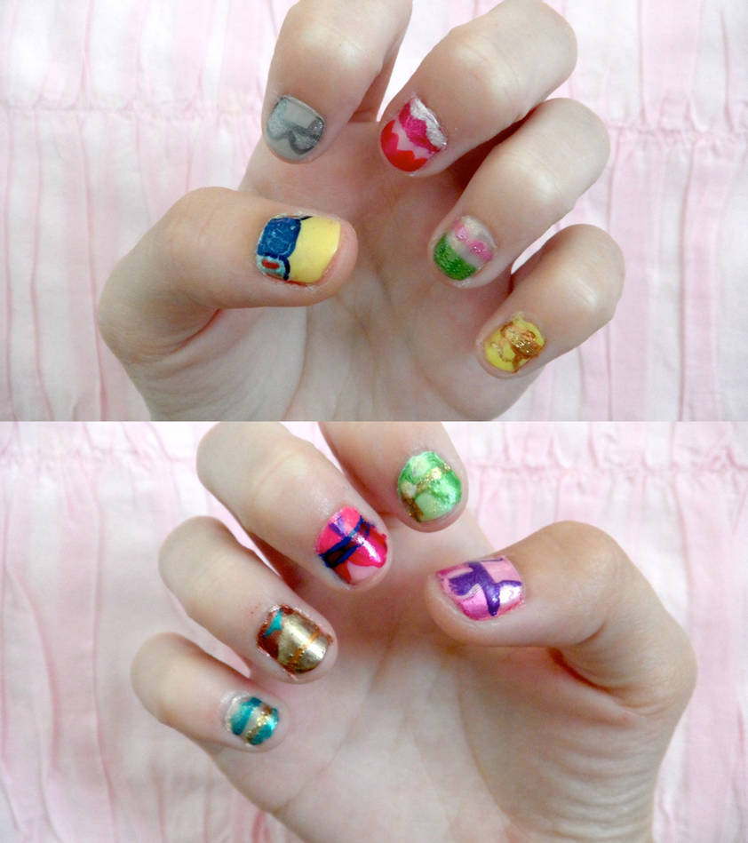 disney princess nails by colorized-happily on DeviantArt