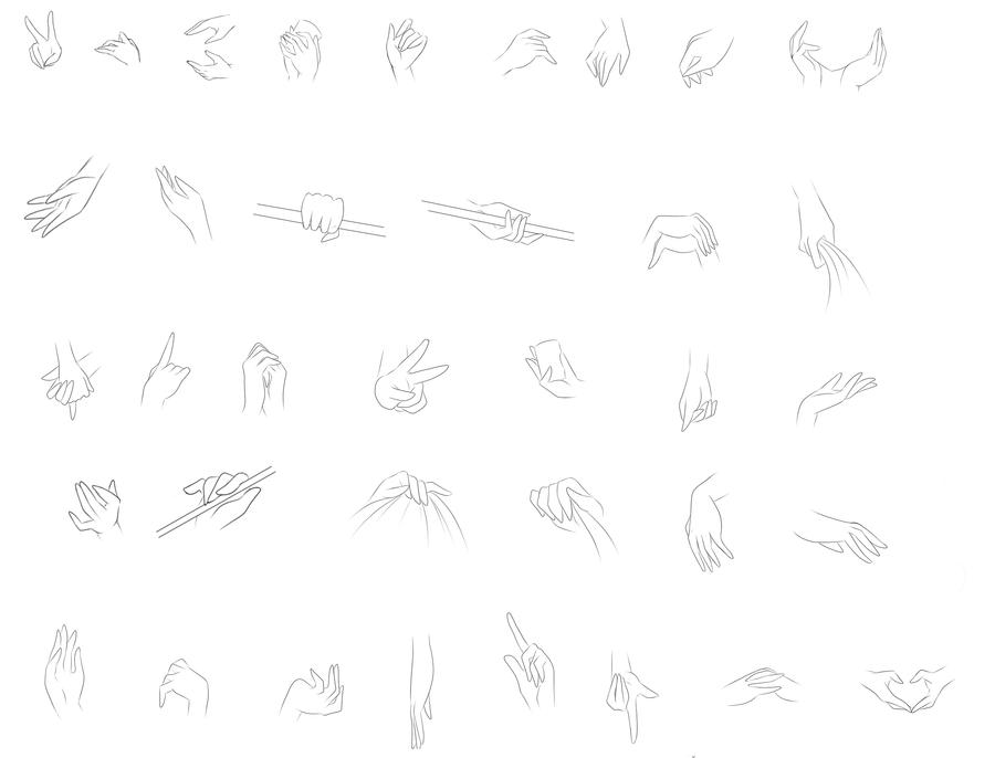 Hand study 2 by Amai--Kiss