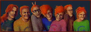 A whole bunch of Weasleys