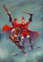 Weasley Beaters Giftart by Peregrinus5Floh