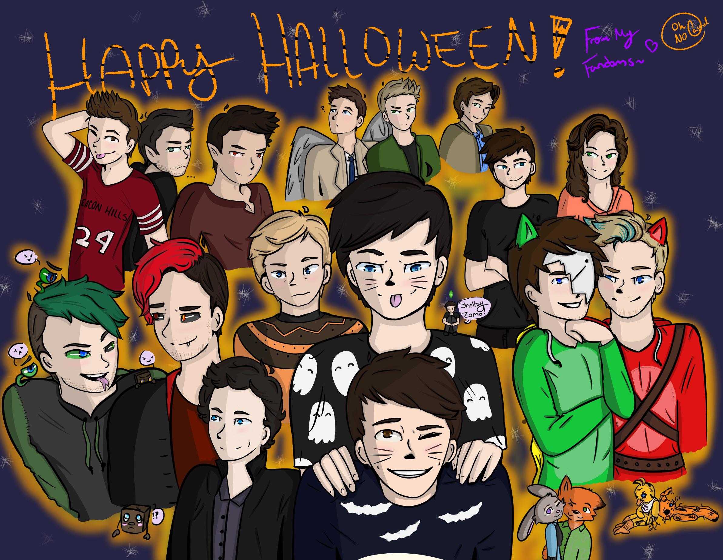 Happy Halloween! [Fandom Collage] by oh-no-Castiel