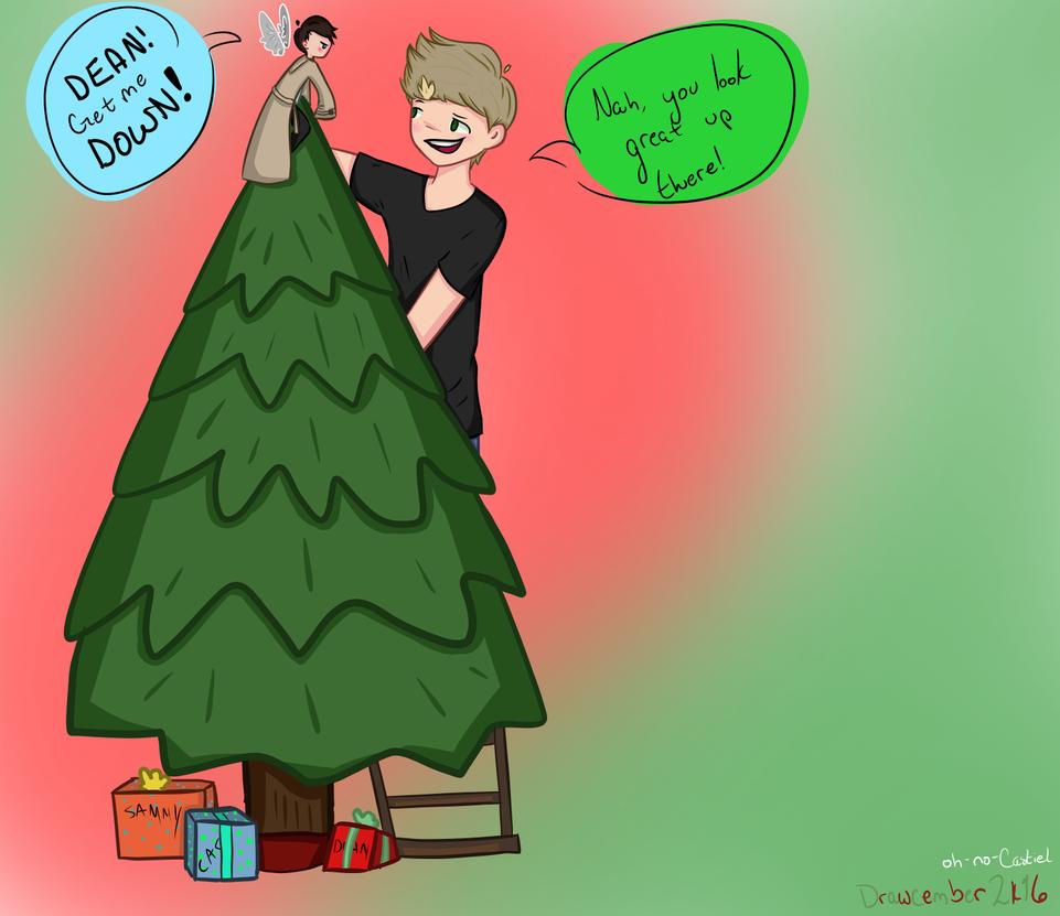 Tree Topper [destiel]-- Drawcember 3/16 by oh-no-Castiel