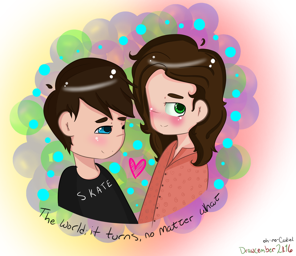 darling, just hold on [larry] -- Drawcember 10/16 by oh-no-Castiel