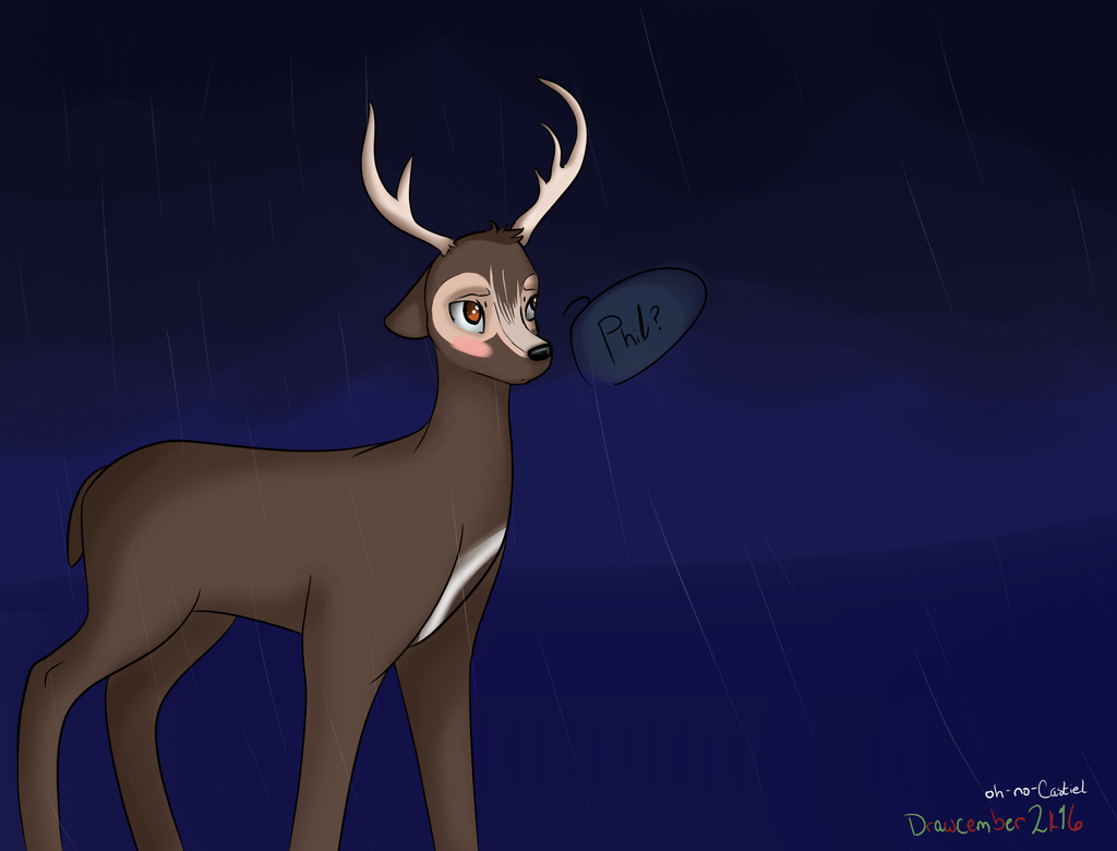 Deer!Dan?? -- Drawcember 13/16 by oh-no-Castiel