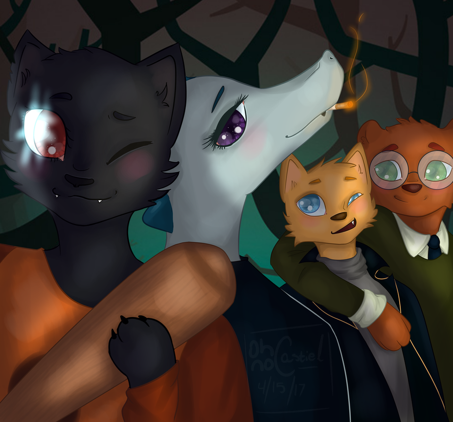 Let's Die Anywhere Else [NitW +SPEEDPAINT ] by oh-no-Castiel