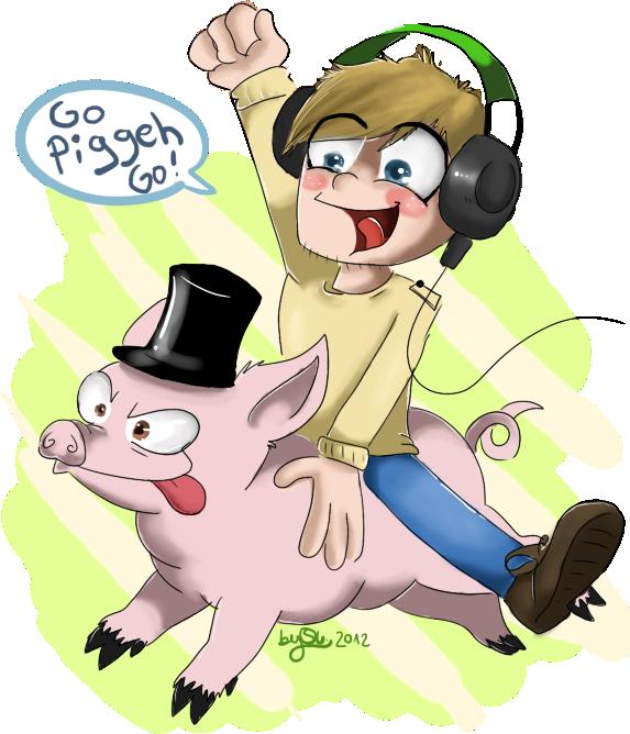 Go Piggeh Go! (Pewdiepie) by skrollmon
