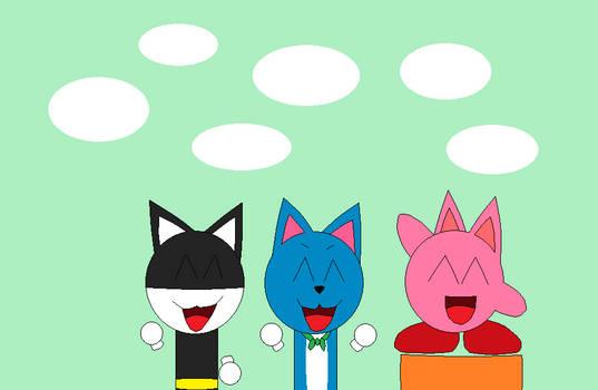 Morgana Happy And Cat Kirby