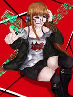 Futaba Sakura Persona 5 Fanart by HajimeK