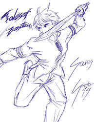 Drawing Challenge 07:Sorey2 by sector19