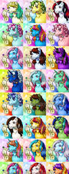 20140912 Collected Mlptp Avatars by vampirecheetah