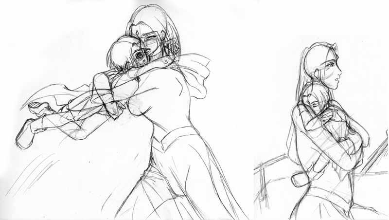 More Arella Raven sketchs by vampirecheetah