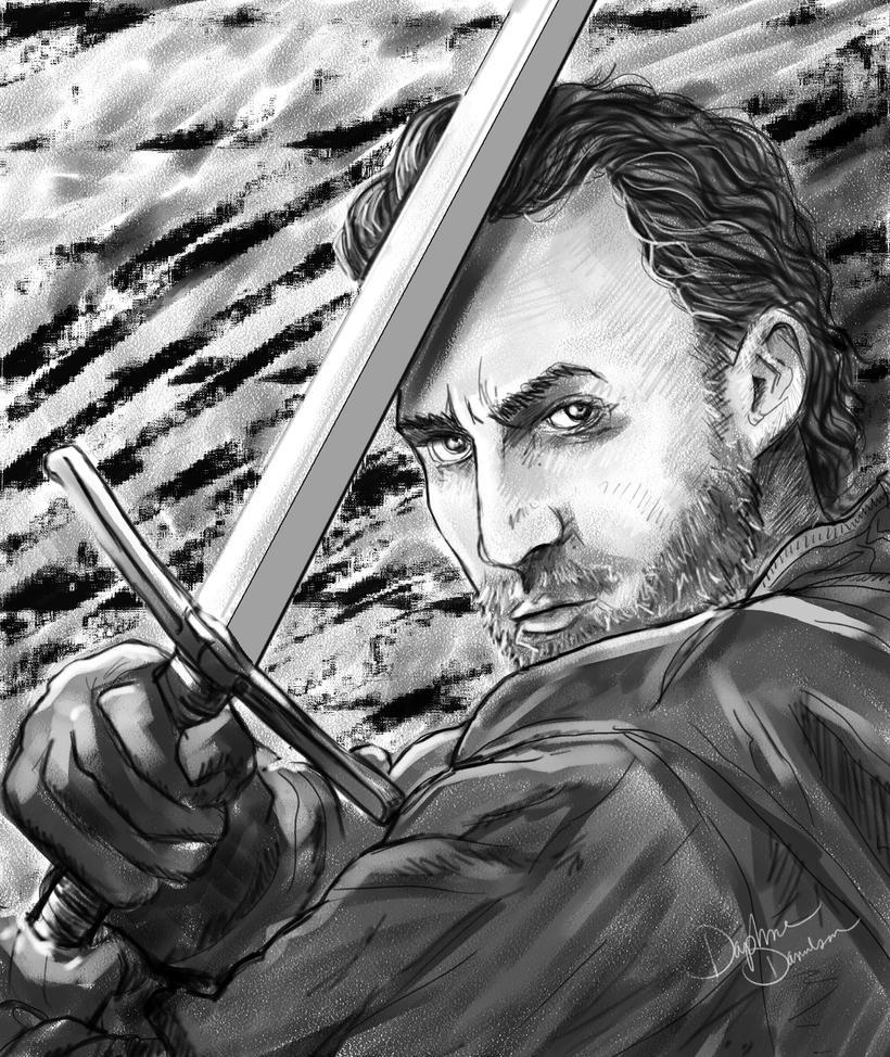Callan Mulvey and a sword by LibertineM