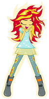 Sunset Shimmer transforming into Phoenix