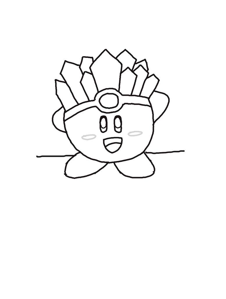 Kirby lineart by chela22 on DeviantArt