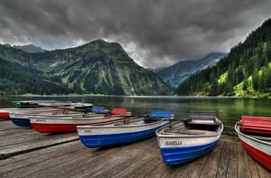 Vilsalpsee in Alps by mutrus
