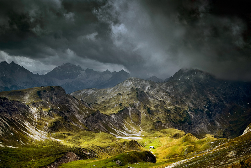 Cloudy Mountains II by mutrus on DeviantArt