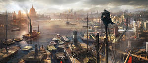 Assassin's Creed Syndicate Concept Art: The Docks