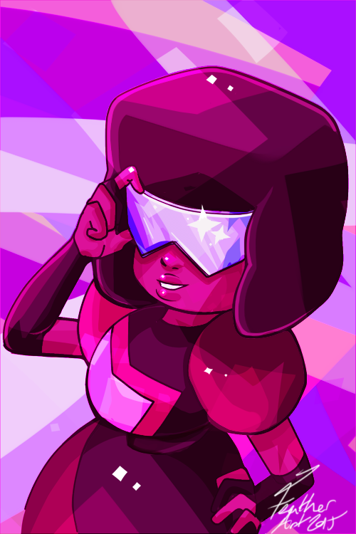 Garnet I think might be my favourite. I can't wait for Stevenbomb II, we're going to wait until Saturday and binge watch it on my brother's projector. I went mad with the hard brush and overlay goi...